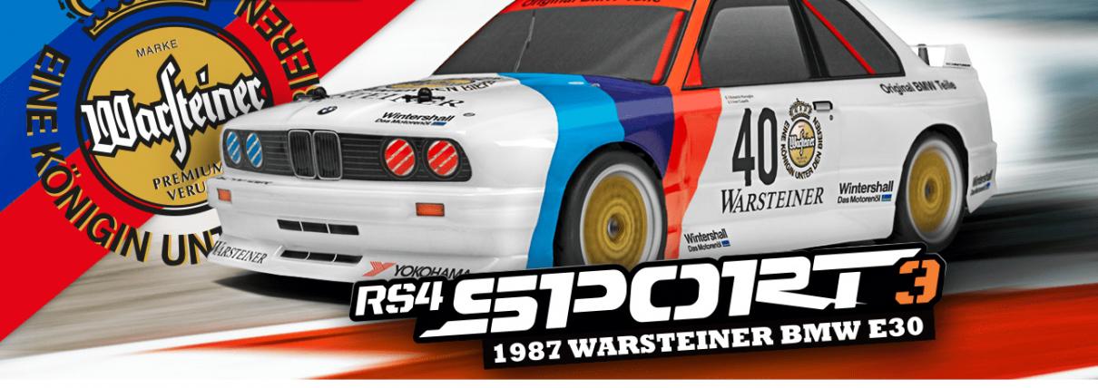 Fjernstyret bil - HPI Racing - RS4 Sport 3 1987 BMW E30 M3 Warsteiner