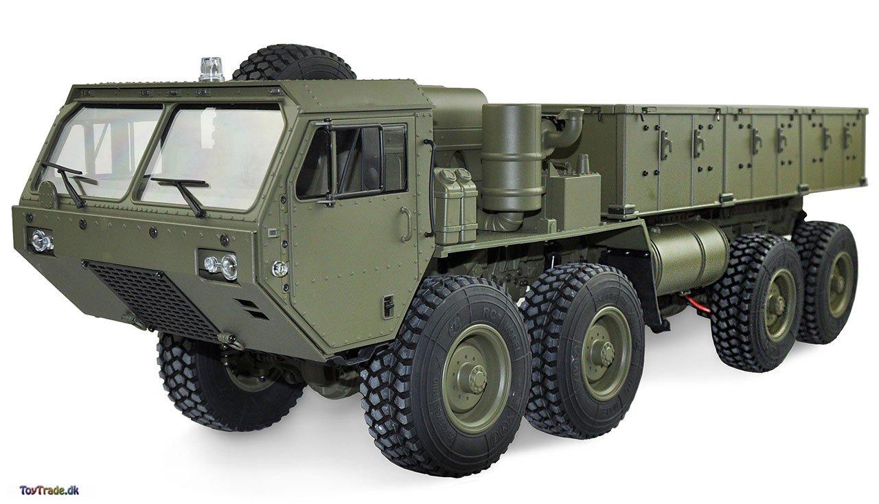 Fjernstyret lastbil U.S. Militærtruck 8X8 med lad