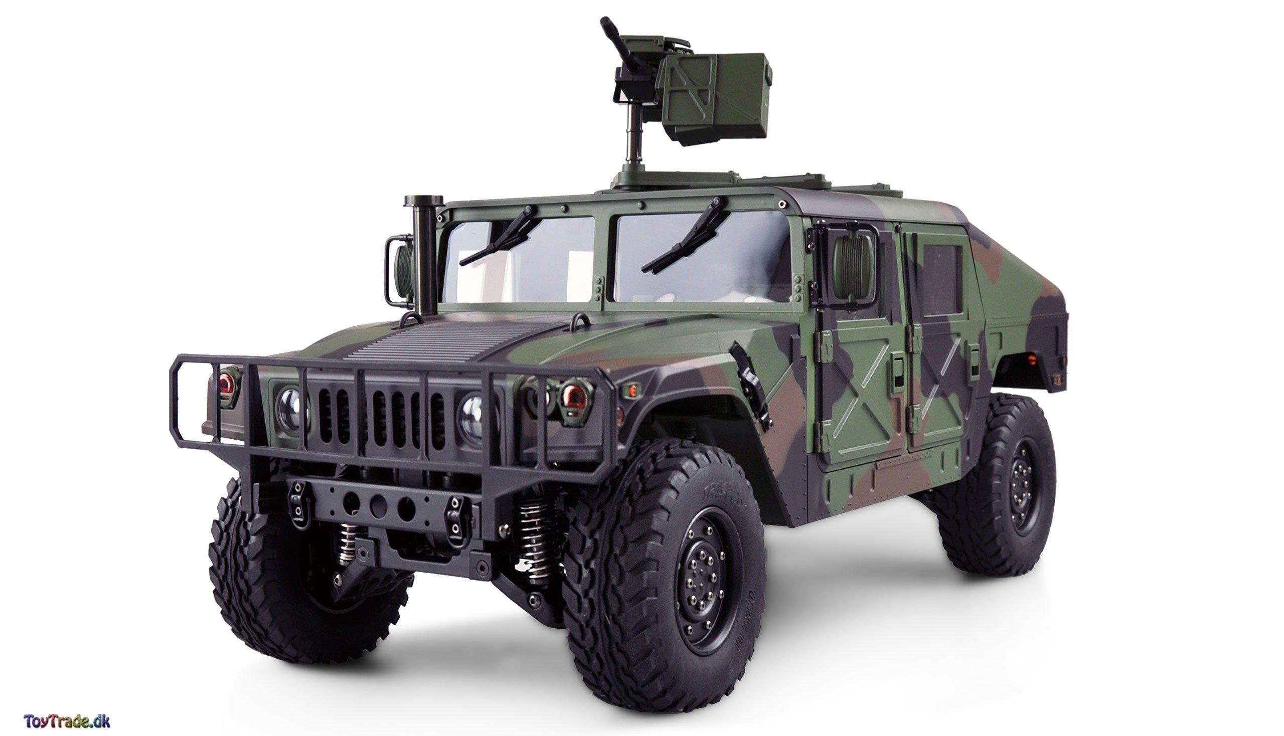 Fjernstyret bil U.S. Militærkøretøj 4X4 RTR 1:10 - Camouflage (RC bil Humwee)