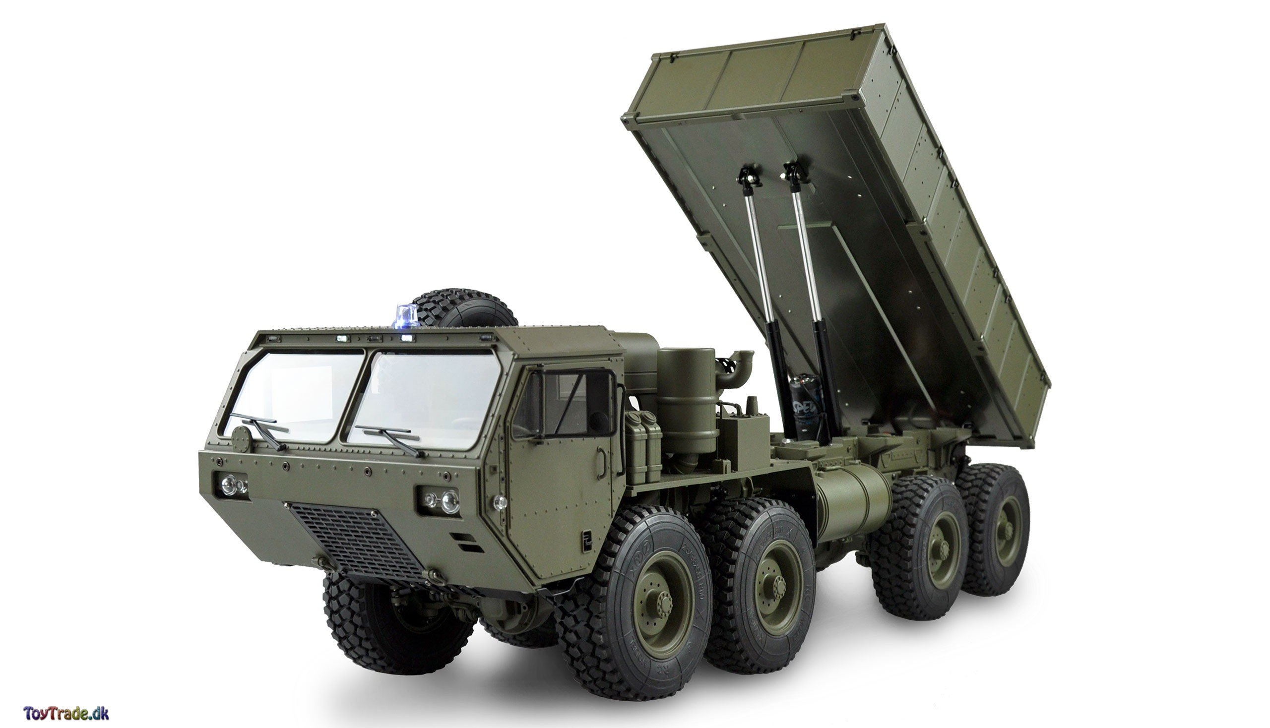 Fjernstyret lastbil U.S. Militærtruck 8X8 med tippelad